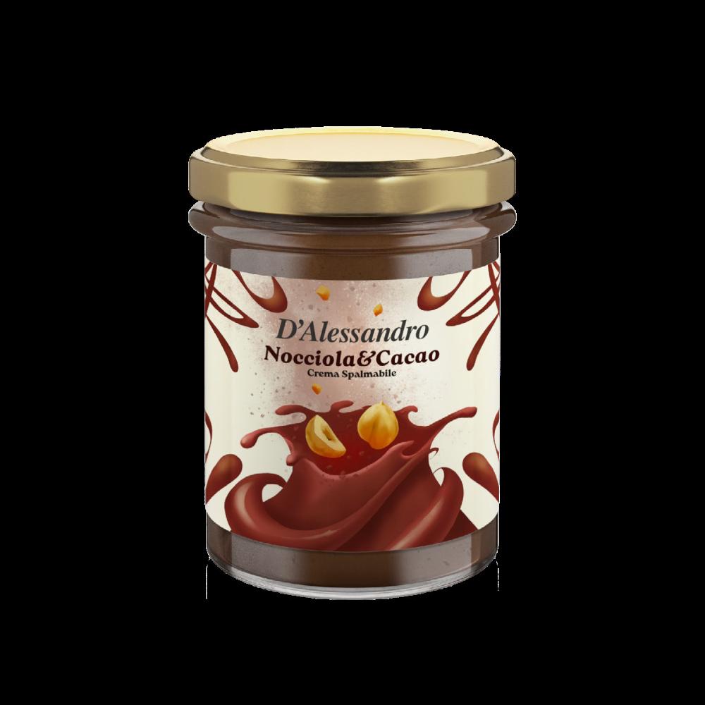 Crema spalmabile al gusto Nocciola e Cacao